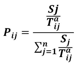 Wzór na model Huffa - Huff model